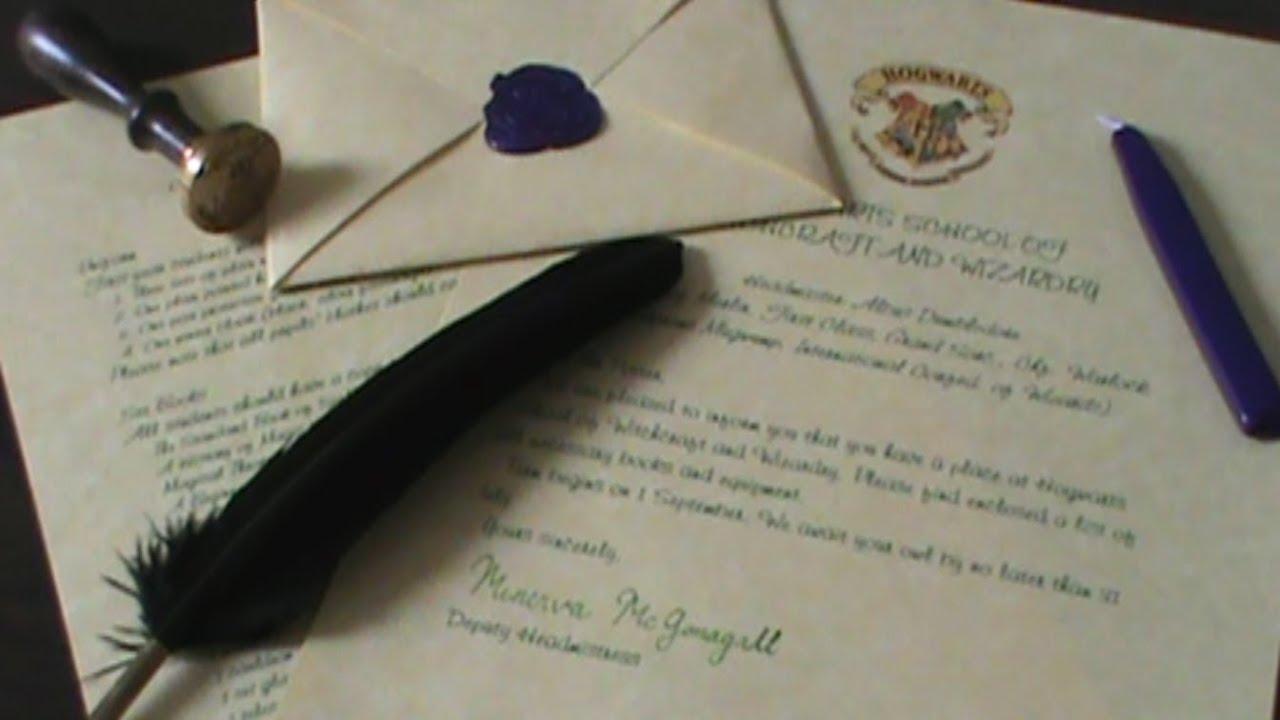 Quiller Crafts Hogwarts Acceptance Letter