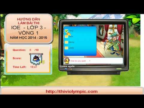 IOE Tiếng Anh trên mạng Lớp 3 - Vòng1 Năm học 2014 - 2014
