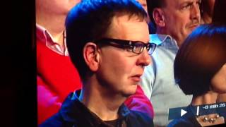 Man in Audience Turns Head at Camera: The Late Late Show