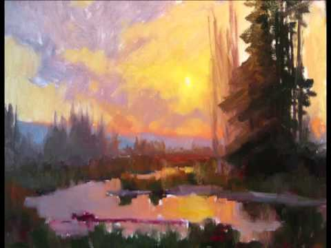 Sunset and Water oil painting demo