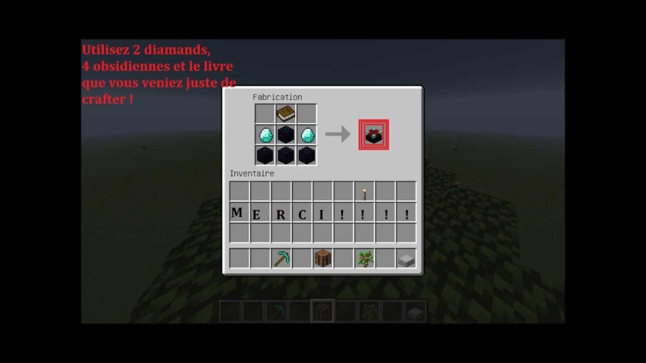 Comment faire une table d 39 enchantement minecraft youtube - Comment faire une laisse dans minecraft ...
