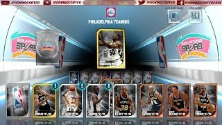 NBA 2K14 MyTEAM Mode PS4 Historic Spurs Pack Opening