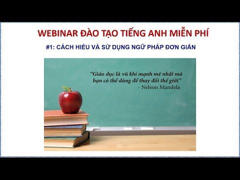 Webinar đào tạo tiếng Anh (buổi #1)
