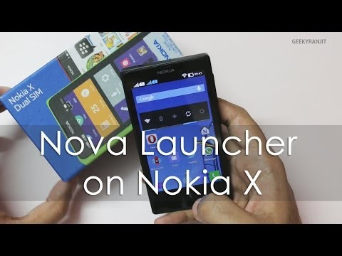 Nova Launcher on Nokia X