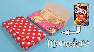 Como hacer un monedero de cartón