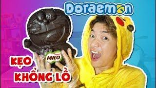 MÉM XỈU VỚI KẸO MILO KHỔNG LỒ HÌNH DORAEMON - Pikachu Nấu Ăn