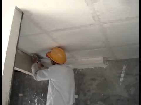 Armazem do Gesso - Preparando e aplicando gesso no teto 7