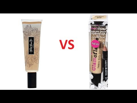 Kat von d tattoo concealer vs hard candy glamoflauge for Tattoo cream at walmart