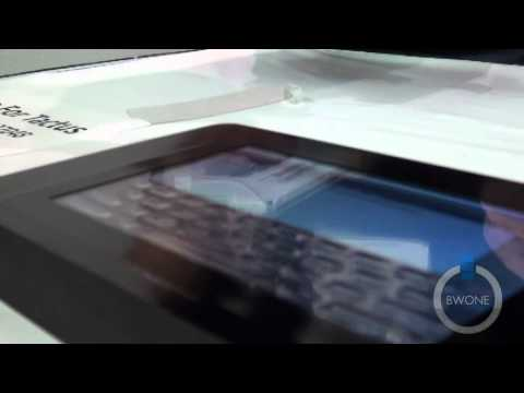 Tactus Tactile Layer Touch Screen Display Technology Hands-On - BWOne.com