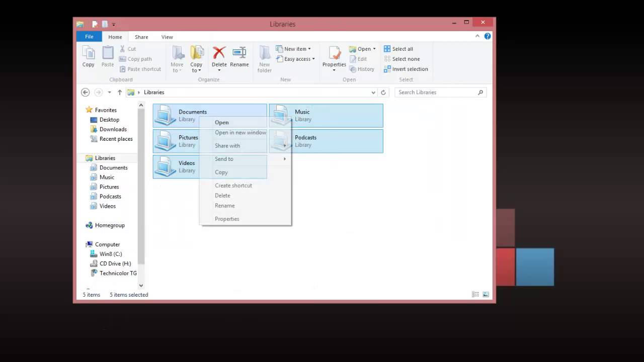 How to fix library ms no longer working in windows 8 and for Documents library ms is no longer working windows 8