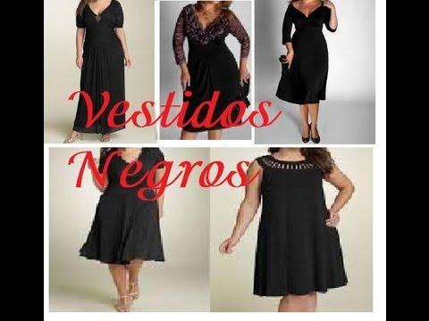 Vestido Negro Fiesta gorditas