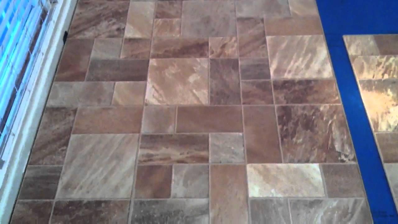 Comlaminate Flooring Pattern : Tile Pattern Laminate Flooring - YouTube