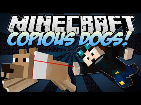 Minecraft | COPIOUS DOGS! (Puppies & Better Breeds in Minecraft!) | Mod Showcase [1.6.2]