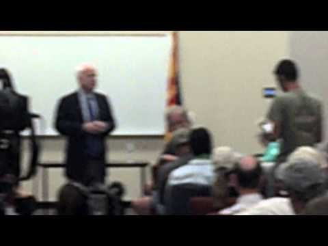 Marine Infantry Combat Veteran Bryan Bates at John McCain Tucson Town Hall, September 5, 2013