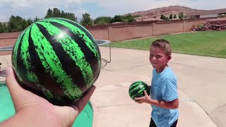 BEST REAL VS FAKE CHALLENGE!! FILLING MY POOL WITH WATERMELONS!!
