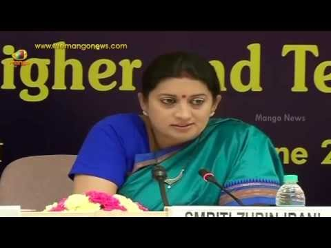 Smriti Irani about future education plans of India
