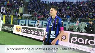 La commozione di Mattia Caldara al termine di Atalanta-Milan