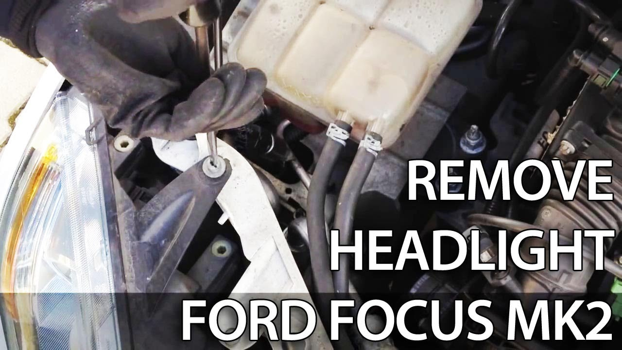 How To Remove Headlight For Light Bulb Change In Ford