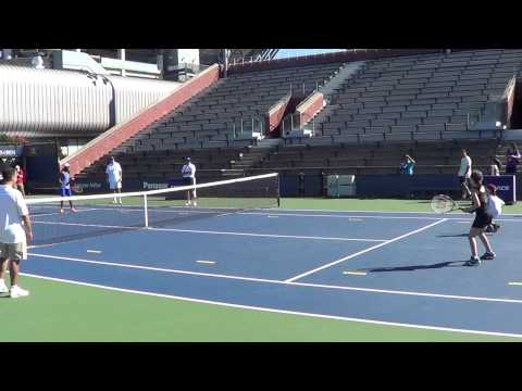 Max & Isabelle vs. Sloane Stephens & Dmitry Tursunov (2013 Arthur Ashe Kids Day)