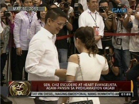 Heart Evangelista and Chiz Escudero