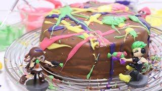Splatoon2 Surprise Eggs Chocolate Cake