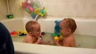 The Twins Lose It In The Tub!