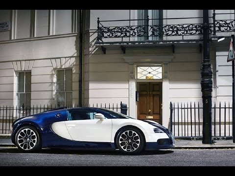 One Off Bugatti Veyron Sang Bleu Driving in London
