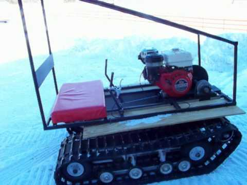home made track machine