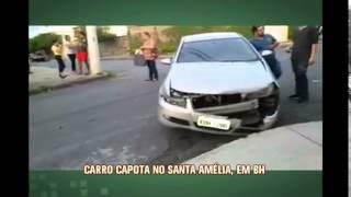 Desrespeito � placa de PARE provoca batida no Bairro Santa Am�lia
