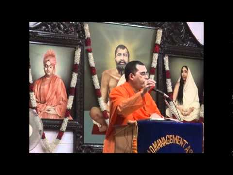 Swami Bodhamayananda speaking on 'Vivekananda Lessons on Modern Management'