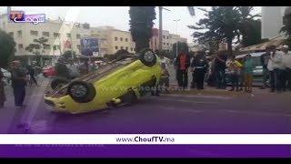 انقلاب سيارة بالدارالبيضاء بسبب السرعة المفرطة   |   بــووز