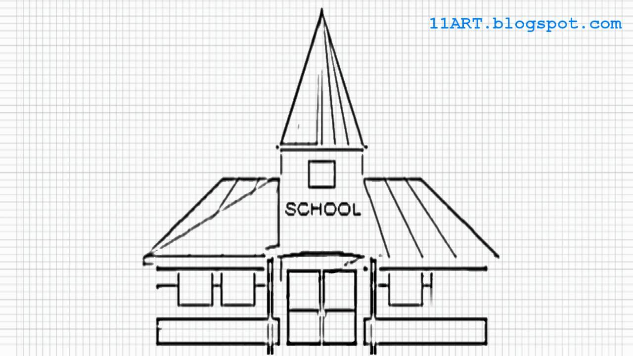 Drawing easy houses maxresdefault easy to draw school building on house plans for japanese houses