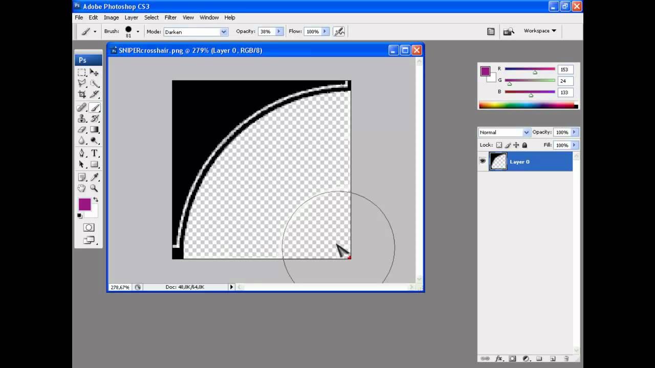 how to change opacity of crosshair cs