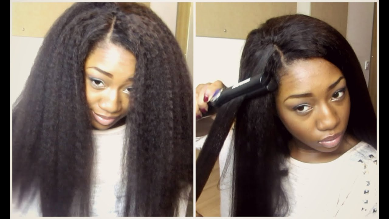 Crochet Hair Kinky Straight : Looking Hair! (Dream Tresses Mongolian Kinky Straight) - YouTube View ...