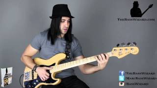 Bass Lessons - Marcus Miller Frankenstein with Tabs  (The Bass Wizard)