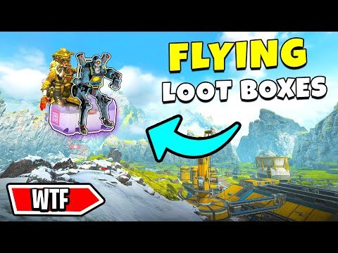 *NEW* FLYING ON LOOT BOXES!?! - NEW Apex Legends Funny & Epic Moments #206