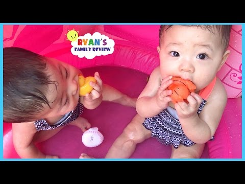 Babies and Kids Family Fun Pool Time with Rubber Ducky Ryans Family Review