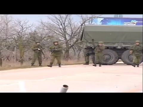 Russian Military Forces occupy in Crimea Ukraine