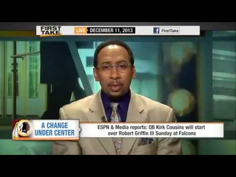 Redskins To Start Kirk Cousins Over RG3   ESPN First Take   YouTube