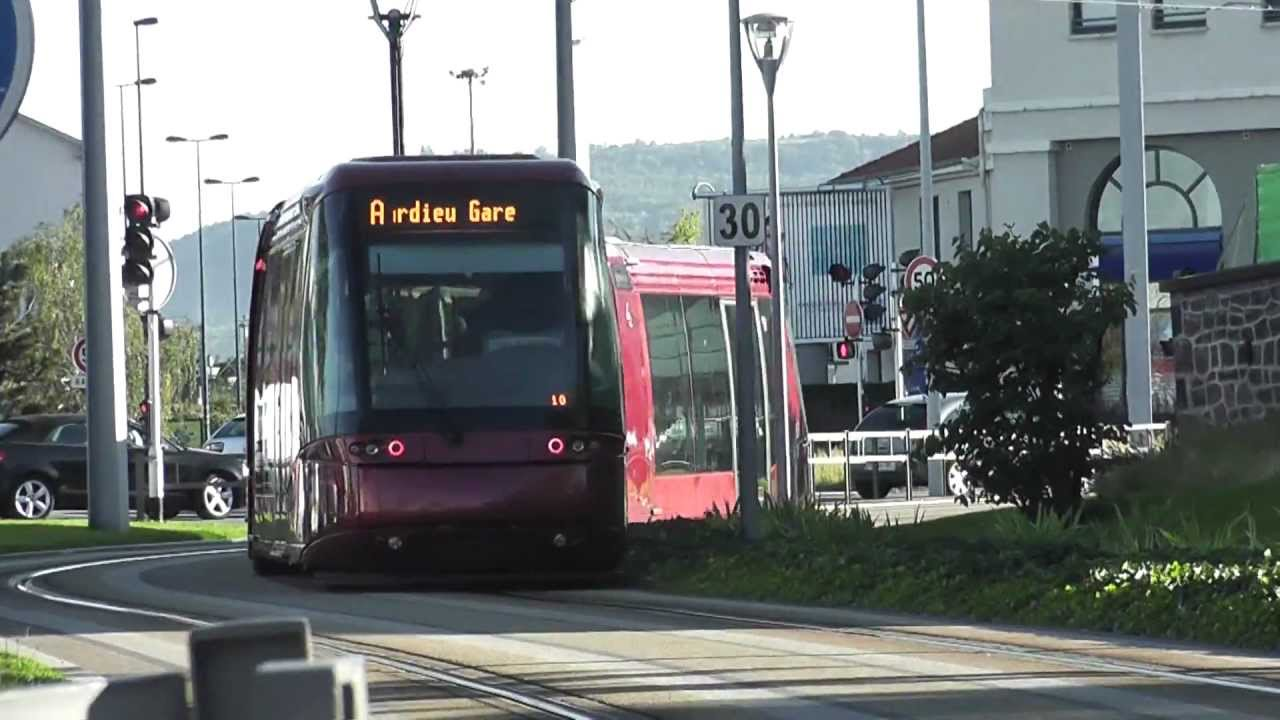 tramway translohr de clermont ferrand 1 youtube. Black Bedroom Furniture Sets. Home Design Ideas