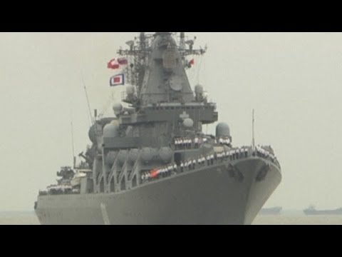 Russian and Chinese joint military drills in East China Sea
