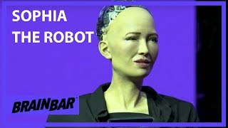 My Greatest Weakness is Curiosity | Sophia the Robot at Brain Bar