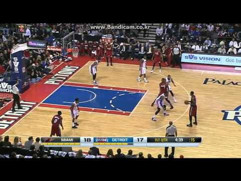 'Captain' Udonis Haslem 17Pts vs Pistons (2014.03.28)