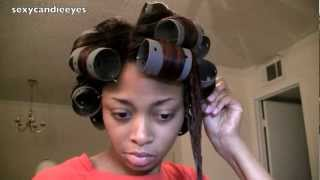 How I Roller Set My Hair