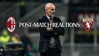 Post-partita #MilanTorino | Coach Pioli's satisfaction after the final whistle