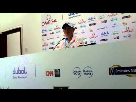Stacy Lewis ahead of the 2013 Omega Dubai Ladies Masters - Full PC