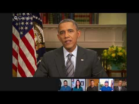 President Obama Answers a Question about Ukraine at the Virtual Road Trip with President Obama