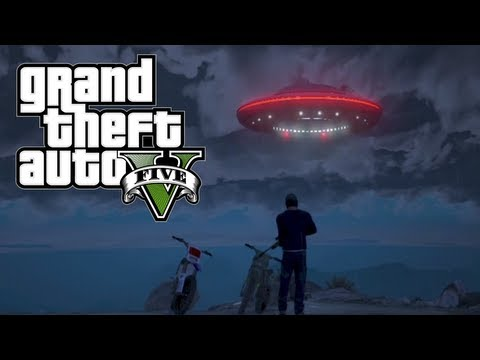 GTA 5 - Flying UFO Easter Egg! 100% Game Completion (Grand Theft Auto 5 Gameplay),