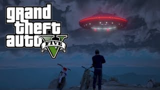 GTA 5 Flying UFO Easter Egg! 100% Game Completion (Grand