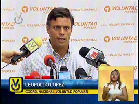 Leopoldo López fijó posición ante declaraciones del presidente Maduro en tener un plan de magnicidio
